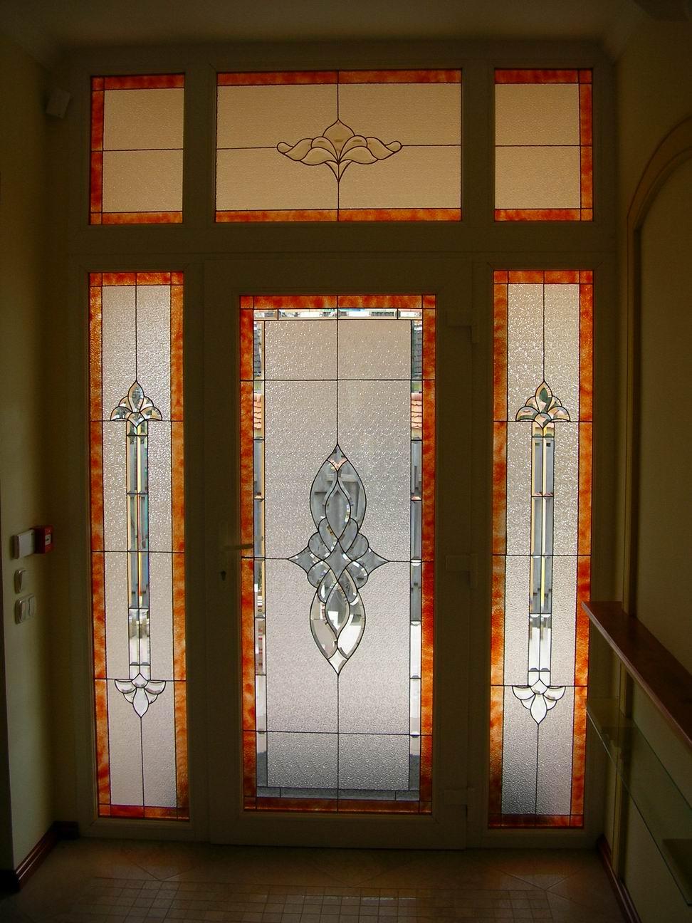 Tiffany üveg bejárati ajtó