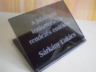Jubileumi üvegdíj