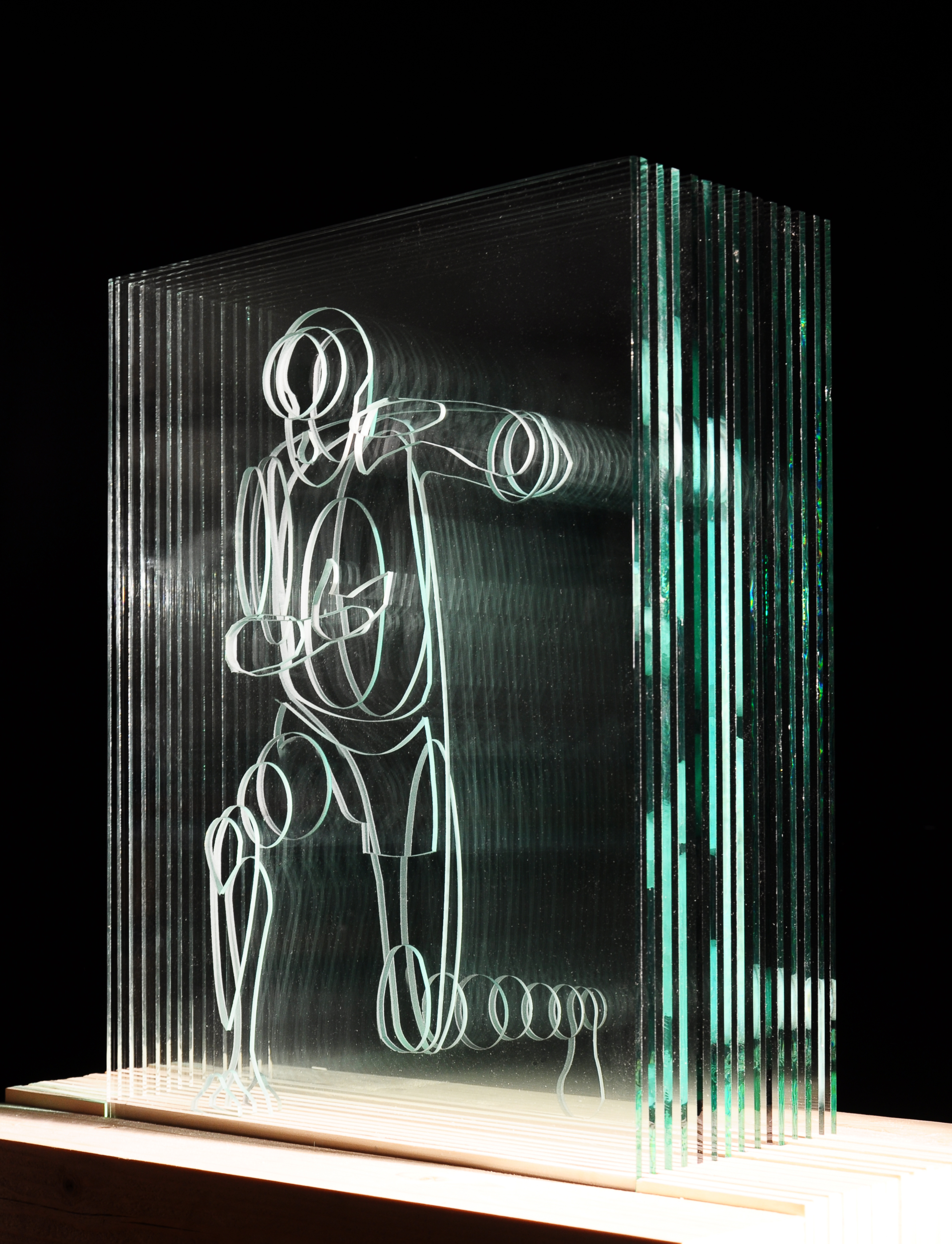 Dilemma glass sculpture